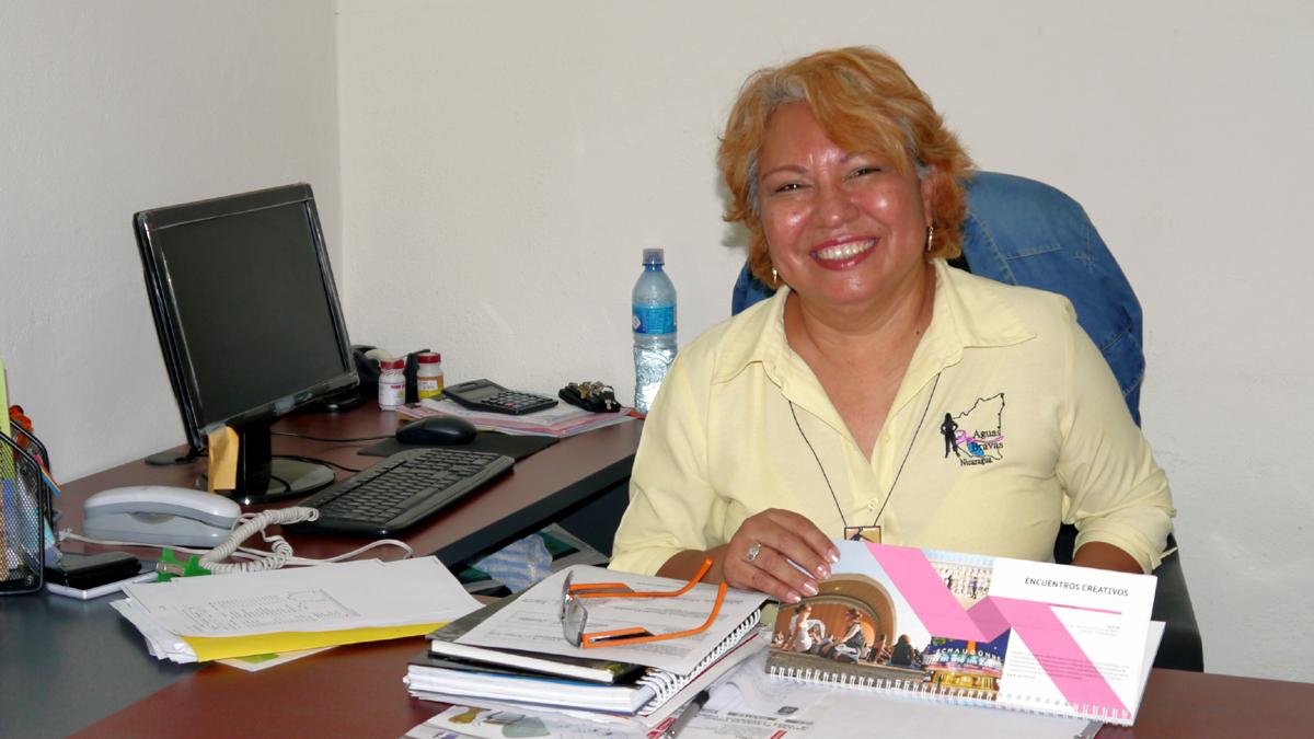Mitarbeiterin von Aguas Bravas