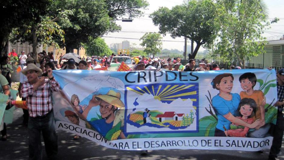 Demonstration für die nachhaltige Entwicklung in El Salvador