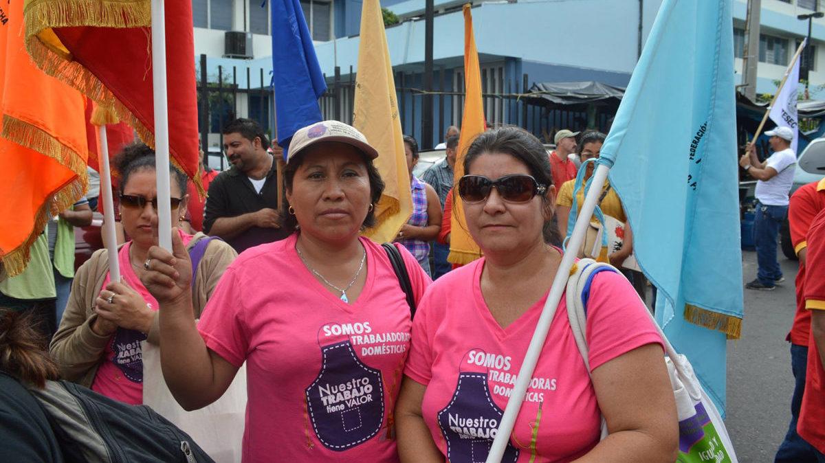 FEASIES bei einer Demonstration für die Rechte von Hausangestellten