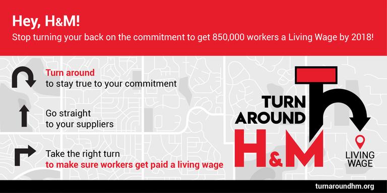Grafik: Kehr um H&M Wegbeschreibung richtung Existenzlohn