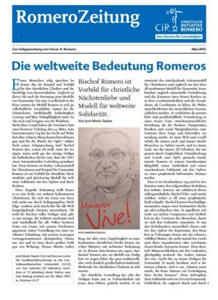 CIR-Cover Romero-Zeitung- 2015