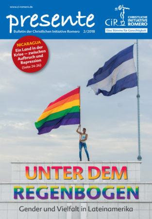 Cover der presente 2-2018 zum Thema Unter dem Regenbogen - Gender und Vielfalt in Lateinamerika
