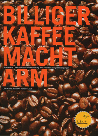 Cover der Broschüre Billiger Kaffee macht arm