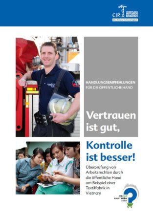 Cover der Studie mit einem Feuerwehrmann im sozielverantwortlich eingekauften Hemd