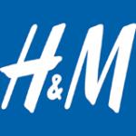 Logo von H&M in weiß auf blau