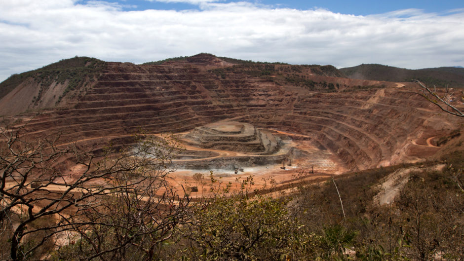 Goldcorp's Los Filos open pit gold mine. Carrizalillo, Guerrero, Mexico. March 18, 2014.