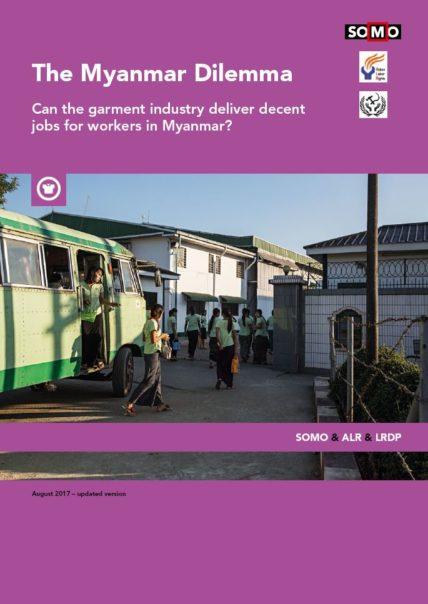 "Cover der SOMO-Studie ""The Myanmar Dilemma"""