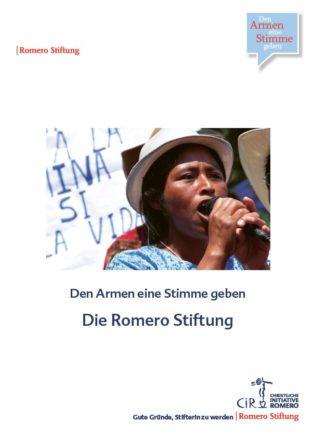 Cover der Broschüre zur Romero Stiftung