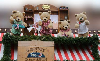 Teddibären auf dem Nürnberger Weihnachtsmarkt