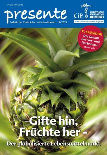 Cover der presente Nr. 4 aus 2015 zum Thema globalisierter Lebensmittelmarkt
