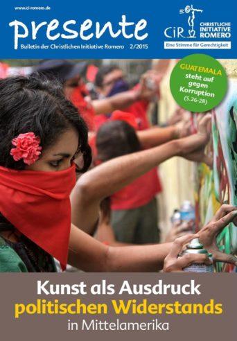 cover der Presente Nr. 2 aus 2015 zum Thema Kunst als Ausdruck politischen Widerstands