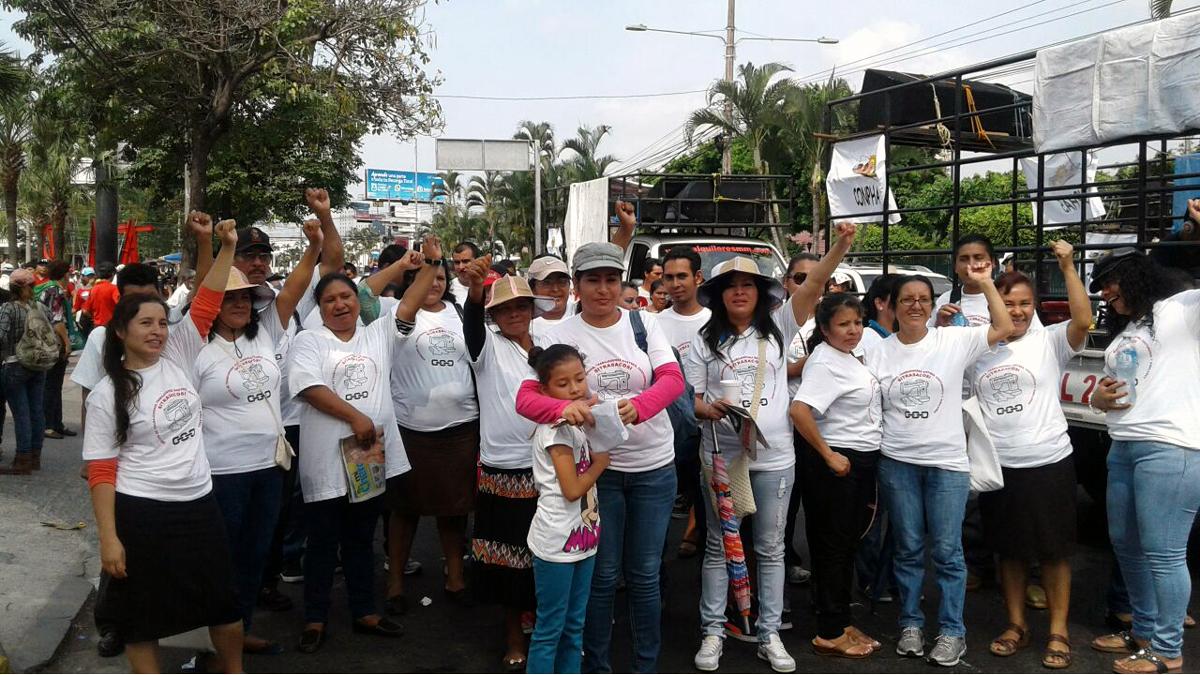 Demonstration der Arbeiterinnen