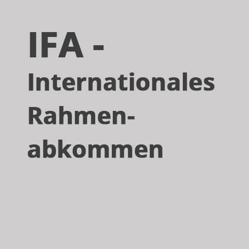 IFA - Internationales Rahmenabkommen