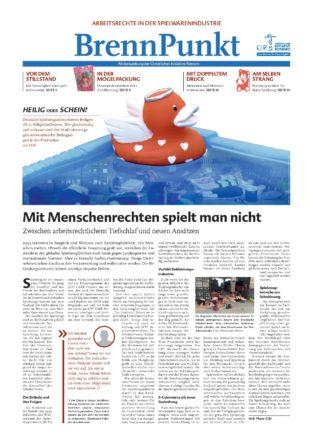 """Cover der Brennpunkt Zeitung mit """"scheinheiliger"""" Quietscheente"""
