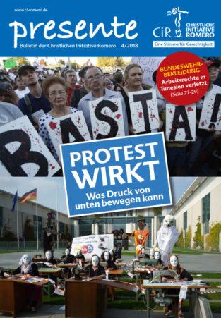 Cover der presente 4/2018 - Protest wirkt!