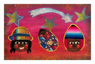 Weihnachtskarte vom Kinderkollektiv Tres Soles