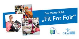 Fit For Fair Memo Spiel Deckballt mit drei Beispielkarten