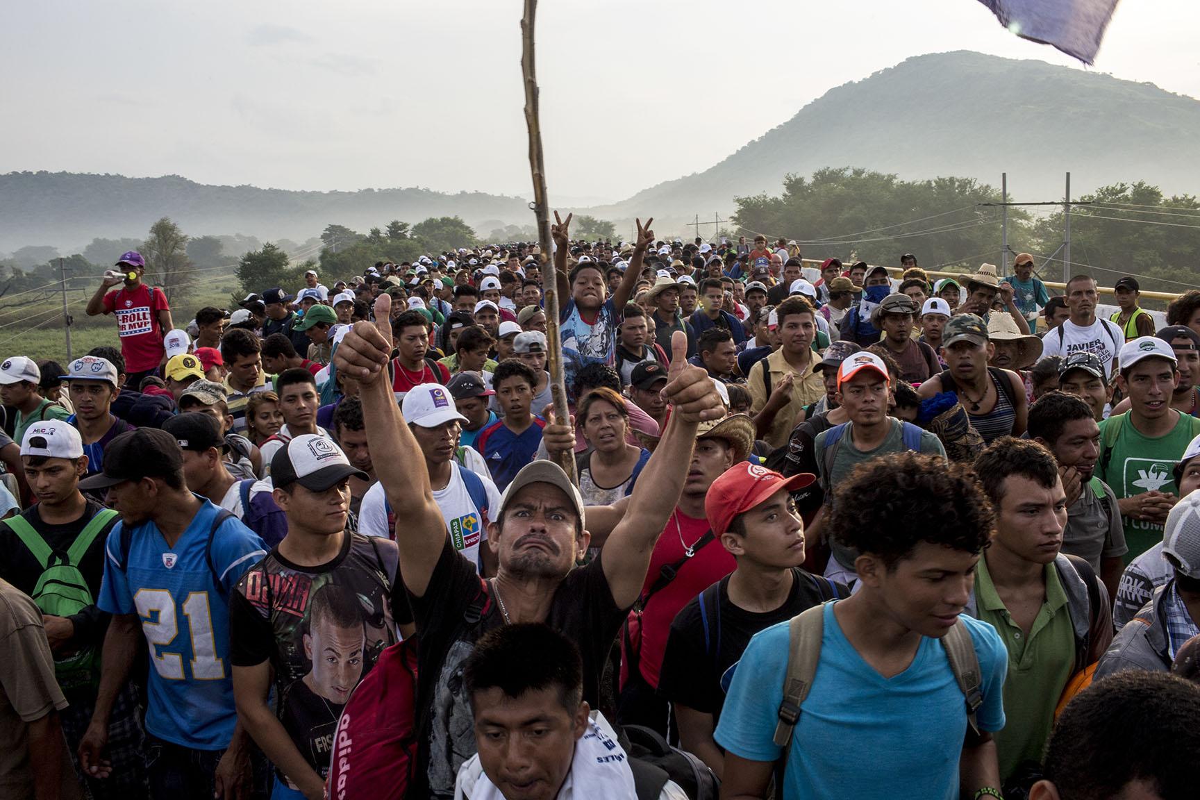 Die Karawane der Flüchtenden aus Mittelamerika in die USA