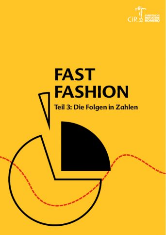 Cover des Dossiers Fast Fashion mit Illustriation einer Tortengrafik