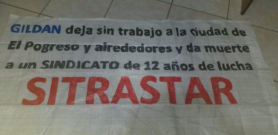 Transparent der Gewerkschaft SITRASTAR