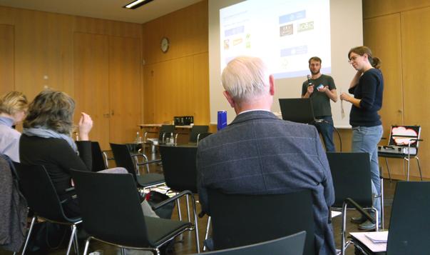 Workshop zu Siegeln während der Tagung
