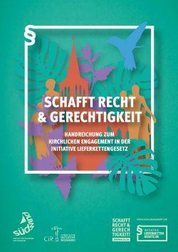 Cover der Handreichung für kirchliches Engagement in der Initiative Lieferkettengesetz