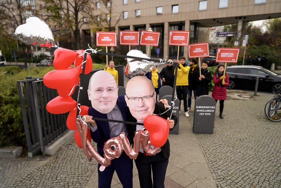 Protestaktion zum Arbeitgebertag