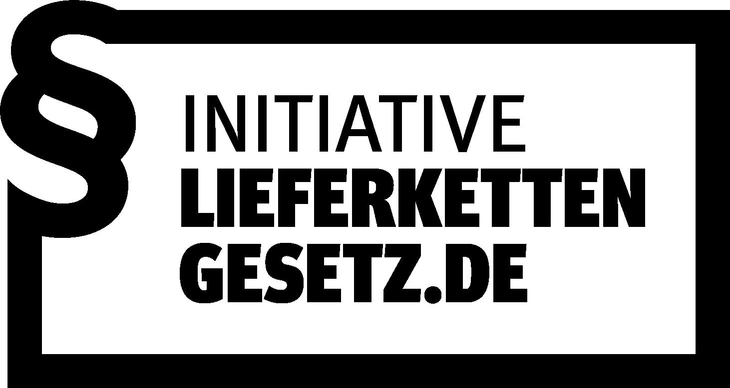 Logo der Initiative Lieferkettengesetz in Form eines gesetzlichen Rahmens