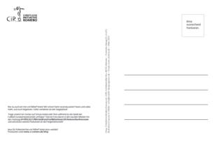 Fast leere Postkarte zum Verschicken, nur ein paar Erklärungen, wie auf der Vorderseite