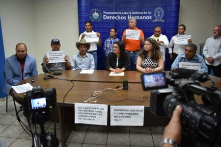 Im Juni 2015 erließ die salvadorianische Menschenrechtsombudsstelle besondere Schutzmaßnahmen für die verfolgten Gemeindemitglieder in Tacuba. Foto: Alfredo Carías