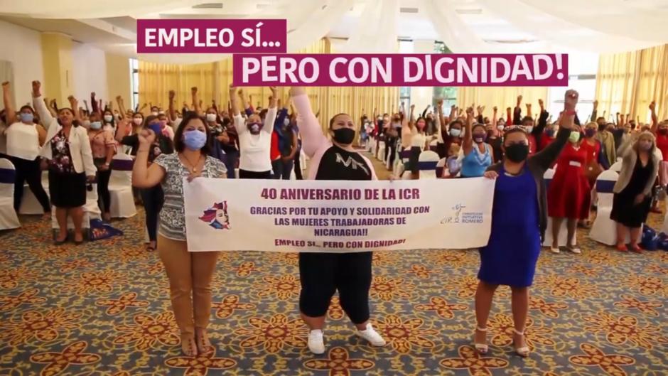 Die CIR Partnerorganisation MEC aus Nicaragua gratuliert mit einem Kämpferischen